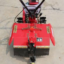 热卖一机多用小型微耕机 家用菜园旋耕松土机 四驱后旋式开沟机