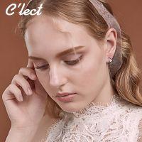 新款小清新少女系耳饰甜美几何三角形圆圈圈耳环学生耳钉饰品批发