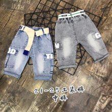 夏季牛仔韩版童裤 儿童短裤 外贸童装原单尾货 五角星牛仔热裤