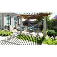 上海别墅私家庭院设计 入户花园门装修设计工程 花园围墙