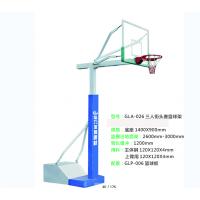 【云浮篮球架】厂家直销给力体育/手动液压式玻璃钢蓝篮球架