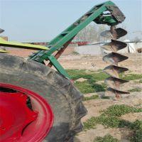 四轮牵引式大型植树种树挖坑机 各种土质车载式挖坑 大直径种植机