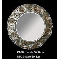 厂家直销 欧式卫浴镜子 浴室镜壁挂镜 卫生间镜圆形 装饰镜 树脂KT028