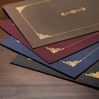 布谷鸟欧式烫金文件封皮A4毕业证书定做奖状合同聘书纸质外壳封套