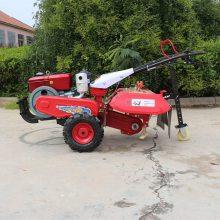 汽油后悬式大棚除草机 大葱大姜开沟培土机 自走式农用小型旋耕机