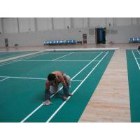 成都健身房羽毛球运动室PVC地板塑胶地板运动地胶