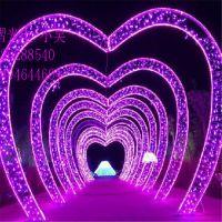 LED灯光节隧道灯 心型拱门造型灯 平面孔雀图案灯