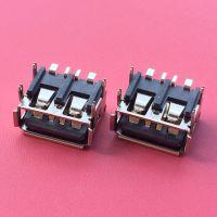 大电流USB/四脚插板SMT/贴板式/卷边铁壳6.3/短体10.0母座/5A母头