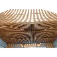外墙门头造型室内天花吊顶铝方通 热转印木纹铝方通吊顶抗氧化