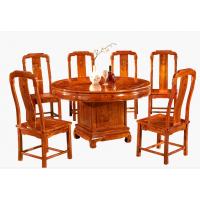 红木餐桌椅家具 名琢世家刺猬紫檀红木酒店餐椅价格