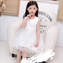 高档儿童婚纱礼服蓬蓬甜美公主连衣裙童裙 夏季新款短袖童裙