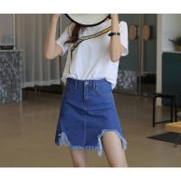 2018夏季新款韩版破洞时尚潮搭半身裙女牛仔口袋学生短裙便宜短裙