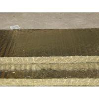 讷河屋面双面贴铝箔岩棉板价格/ 双面铝箔岩棉板多少钱