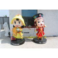 内蒙古吉祥物形象卡通雕塑树脂民族形象卡通雕塑