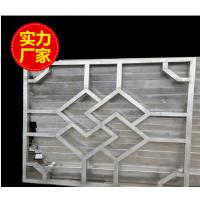 大量供应福建防护铝窗花 铝屏风窗花价格 木纹中式铝窗花