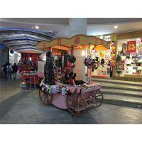上海商业街售卖亭,户外木制手推车,重庆景区移动贩卖车