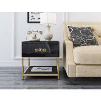 后现代轻奢风客厅沙发边金属几角几慧和家具