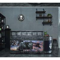 厂家供应酒吧复古收银台 吧台 咖啡厅前台 酒柜 美式复古支持定做 优惠