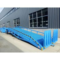 崇左航天厂家定制特殊尺寸液压式登车桥 手动液压10吨货车斜坡