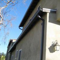 成都市铝合金7英寸成品天沟排水系统 彩色屋面集成排水系统 雨水管批发