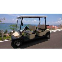 卓越牌红色四轮电动高尔夫球车A1S4
