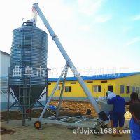 仪征市碎炉渣提升机 倾斜式黄豆装仓上料机 油菜籽螺旋提升机