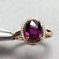 伊彩珠宝 裸石2.65克拉 巴西天然卢比莱碧玺18K玫瑰金戒指