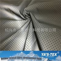 140CM 涤纶无弹力纺织服装面料 反光涂层 打孔