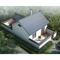 AT232一层中式前后院自建别墅设计全套施工图纸6.9mx13.9m