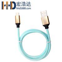 宏浩达工厂专业定制I7苹果数据线安卓数据线二合一手机充电线厂家
