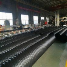 钢带增强波纹管Φ800 PE钢带波纹排水管
