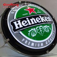 圆形啤酒盖灯箱 亚克力吸塑灯箱 单面led灯箱制作厂家 免费安装