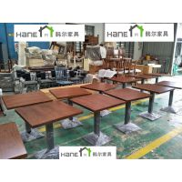 上海韩尔家具厂 供应XJ-02新疆菜餐厅桌椅 复古餐厅实木桌椅定制