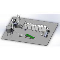 原厂定做双螺杆挤压膨化机机筒型号70