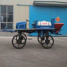 水旱两用施肥打药机工作视频 柴油25马力四驱喷药机 玉米高粱打药机