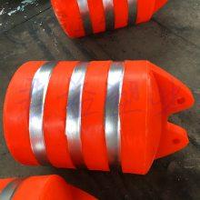 直径800*1000mm塑料浮筒报价 中间孔径110mm两半体夹管浮筒