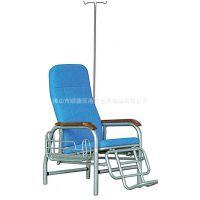 厂家生产可自由调整卧姿高度的豪华型金属单人输液椅 带输液杆机场椅