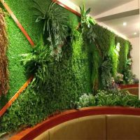 广州仿真植物墙,背景墙,时宽绿植墙,厂家外墙围栏装饰景观草