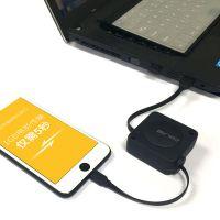 科雷博单拉伸缩充电线适用 苹果 6S Plus 7代 X手机礼品订制款
