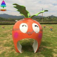 稻草人场景装饰 萝卜造型门头玻璃钢雕塑 园林场景装饰摆件工艺品