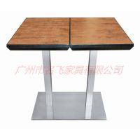 宁波市实木家具,北欧主题西餐厅快餐店桌椅组合定做厂