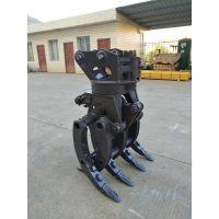 国产新源8吨轮挖夹木器厂家龙圣重工专业挖机属具厂家