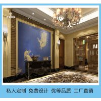 杭州刺绣背景墙厂家直销酒店宾馆客厅皮革软包硬包定做众威家居