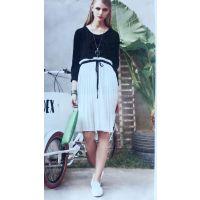 上海巨式国际品牌折扣女装,真丝连衣裙春夏装尾货尾单批发,女装折扣品牌