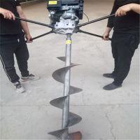 高效挖坑种树二冲程地钻机 种树推着走的钻坑机郑州汽油挖坑机