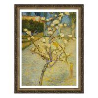梵高《小树梨花开》- Small pear tree in blossom风景画 世界名画 有框