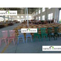 厂家批量定做实木椅子中餐厅西餐厅料理店火锅店茶餐厅 韩尔工厂