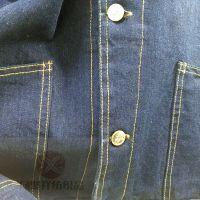 常州全棉长袖牛仔工作服定做纯棉牛仔套装工装劳保服煤矿厂服
