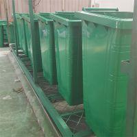 户外垃圾桶果皮箱公园物业产业园环卫室外仿木纹风景区双桶分类