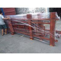 焊接铝窗花护栏-弧形木纹铝四方管定制加工